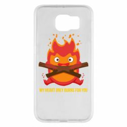 Чохол для Samsung S6 MY HEART ONLY  BURNS FOR YOU
