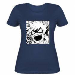 Жіноча футболка My heroic academy manga drawing