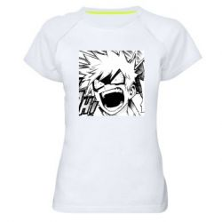 Жіноча спортивна футболка My heroic academy manga drawing