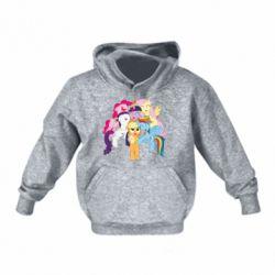 Детская толстовка на флисе My Little Pony