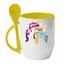 Кружка с керамической ложкой My Little Pony