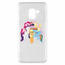 Чехол для Samsung A8 2018 My Little Pony