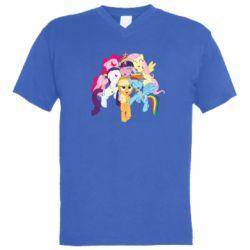 Мужская футболка  с V-образным вырезом My Little Pony