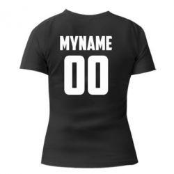 Жіноча футболка з V-подібним вирізом My name American