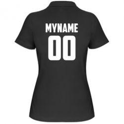 Жіноча футболка поло My name American