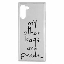 Чохол для Samsung Note 10 My other bags are prada