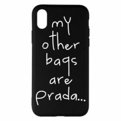 Чохол для iPhone X/Xs My other bags are prada