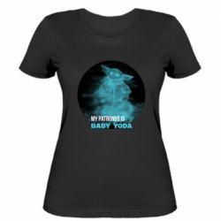 Жіноча футболка My patronus is Baby yoda