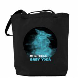 Сумка My patronus is Baby yoda