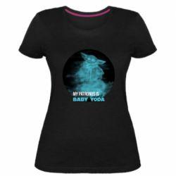 Жіноча стрейчева футболка My patronus is Baby yoda