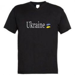 Мужская футболка  с V-образным вырезом My Ukraine - FatLine