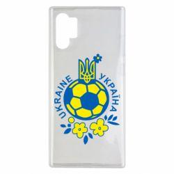Чехол для Samsung Note 10 Plus Мяч футбольный УКРАИНА цветной