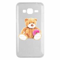 Чохол для Samsung J3 2016 М'який ведмедик