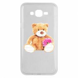 Чохол для Samsung J7 2015 М'який ведмедик