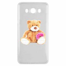 Чохол для Samsung J7 2016 М'який ведмедик