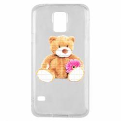 Чохол для Samsung S5 М'який ведмедик