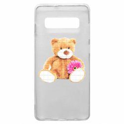 Чохол для Samsung S10+ М'який ведмедик