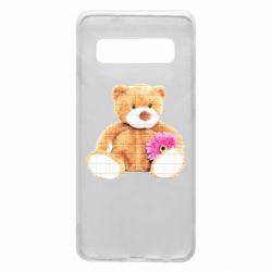 Чохол для Samsung S10 М'який ведмедик