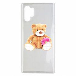 Чохол для Samsung Note 10 Plus М'який ведмедик