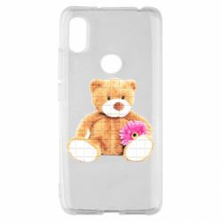 Чохол для Xiaomi Redmi S2 М'який ведмедик