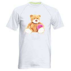 Мужская спортивная футболка Мягкий мишка