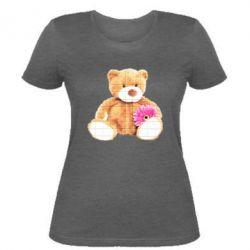 Женская футболка Мягкий мишка