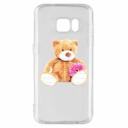 Чохол для Samsung S7 М'який ведмедик