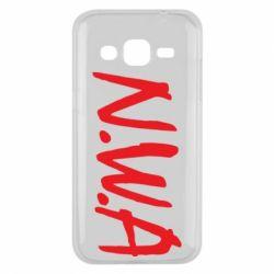 Чехол для Samsung J2 2015 N.W.A Logo