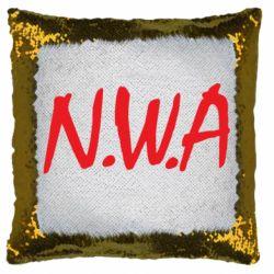 Подушка-хамелеон N.W.A Logo