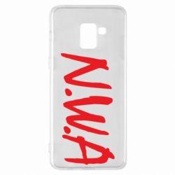 Чехол для Samsung A8+ 2018 N.W.A Logo