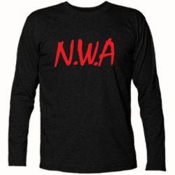 Футболка с длинным рукавом N.W.A Logo - FatLine