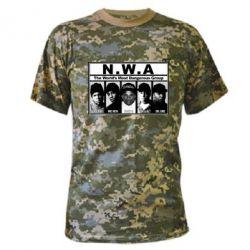 Камуфляжная футболка N.W.A. - FatLine