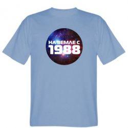Мужская футболка На земле с 1988 - FatLine