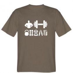Мужская футболка Набор спортсмена - FatLine