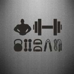 Наклейка Набор спортсмена - FatLine