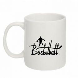 Кружка 320ml Надпись Баскетбол - FatLine