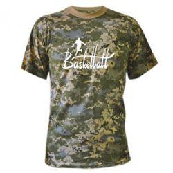Камуфляжная футболка Надпись Баскетбол - FatLine