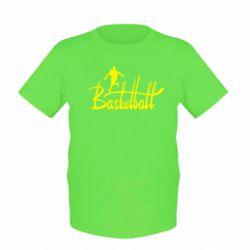 Детская футболка Надпись Баскетбол - FatLine