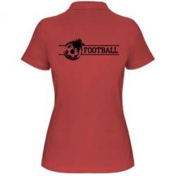 """Женская футболка поло Надпись """"Футбол"""" - FatLine"""