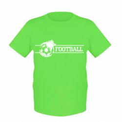 """Детская футболка Надпись """"Футбол"""" - FatLine"""