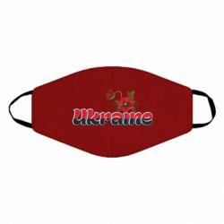 Маска для лица Надпись Украина с цветами