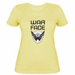 Жіноча футболка Напис Warface