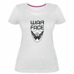 Жіноча стрейчева футболка Напис Warface