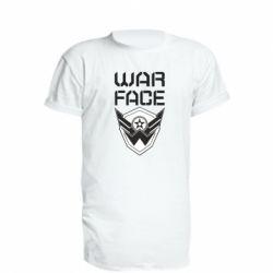 Подовжена футболка Напис Warface