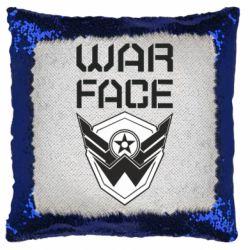 Подушка-хамелеон Напис Warface