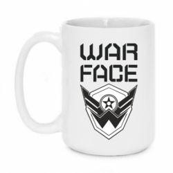 Кружка 420ml Напис Warface