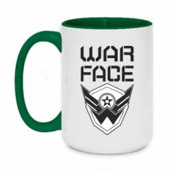 Кружка двоколірна 420ml Напис Warface
