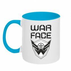 Кружка двоколірна 320ml Напис Warface