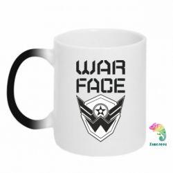 Кружка-хамелеон Напис Warface