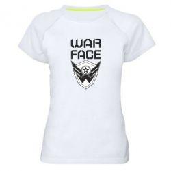 Жіноча спортивна футболка Напис Warface